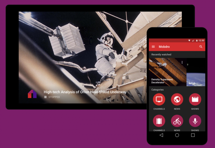 Mobdro for Android smartphone and tablet