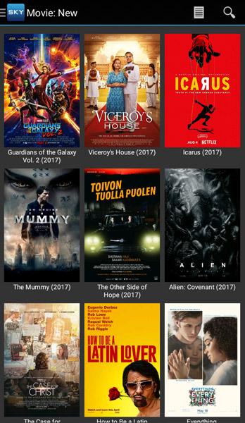 Sky HD App Movie New