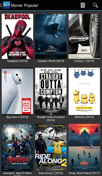 Sky HD Movie Popular App