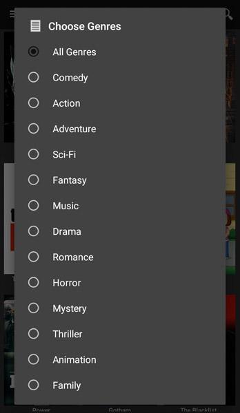 Sky HD App Genre TV Show