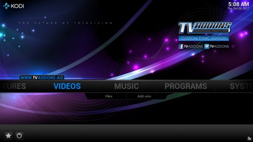 TVMC APK for Android - Homescreen