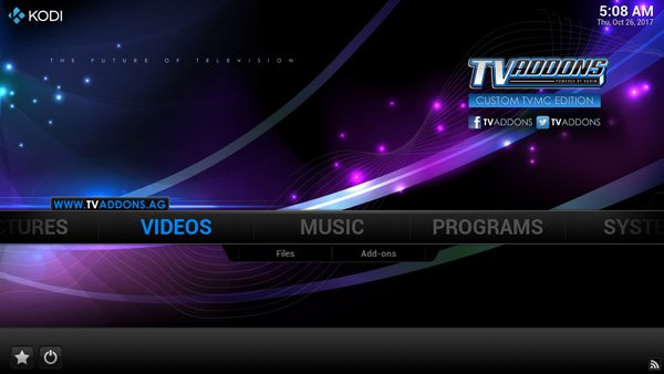 TVMC APK 14.1 - Homescreen