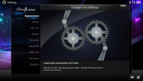 TVMC APK 14.1 - Settings
