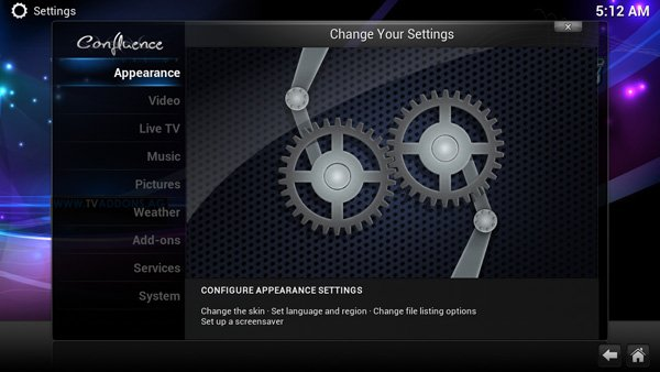TVMC APK Settings