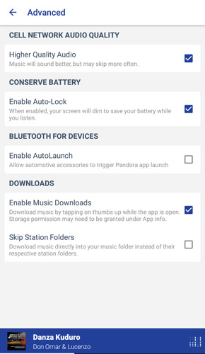 5 - Pandora cracked mod apk advanced settings