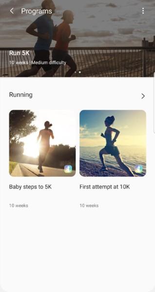 samsung health apk customized fitness programs