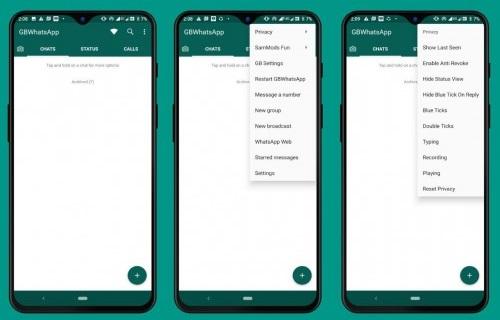 gbwhatsapp mod screenshots