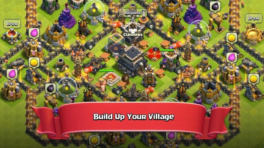 clash of clans build village