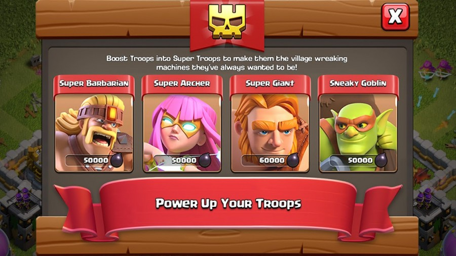 clash of clans troops power