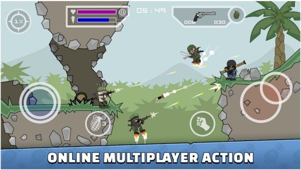 mini militia DA2 multiplayer action game