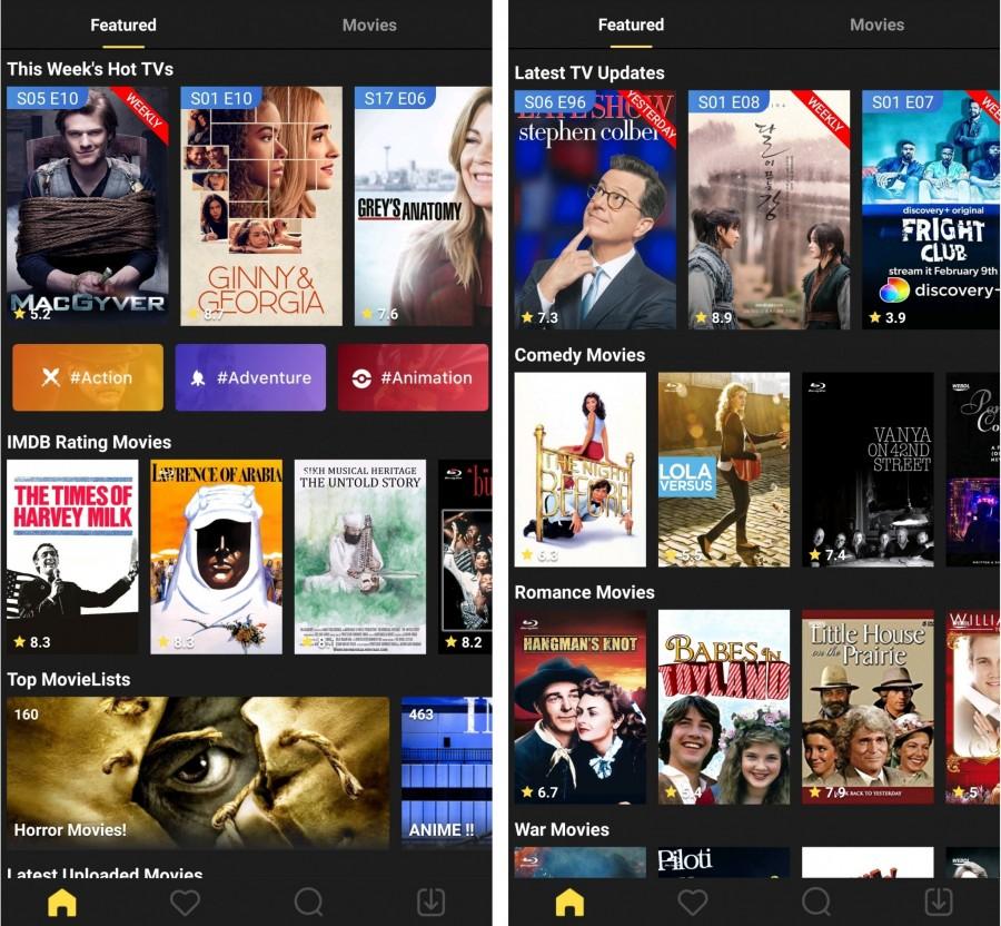 Вкладка Featured MovieBoxPro