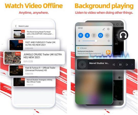 uc browser screenshots