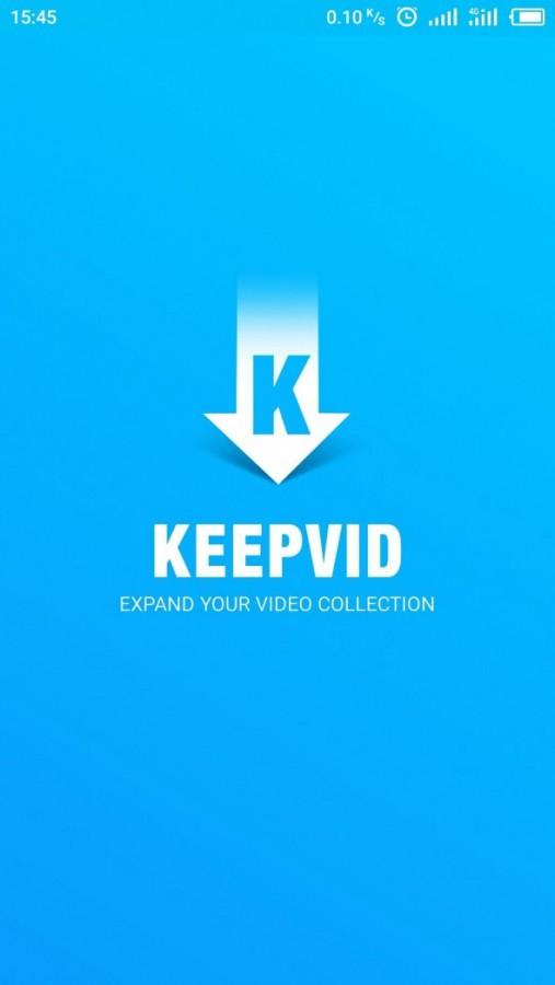 keepvid screenshot launch page