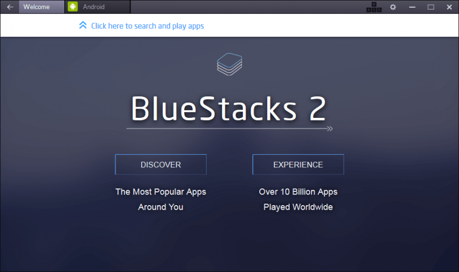 BlueStacks - First Run