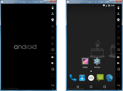 GenyMotion - Nexus 5 Boot & Homescreen - Android Apps On PC