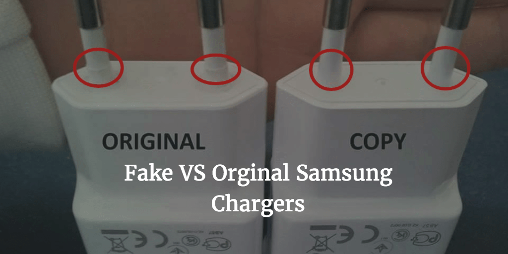 fake vs orignal charger