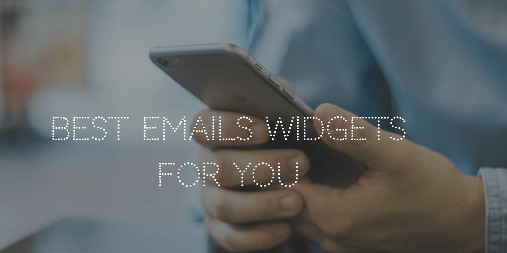 Email Widgets