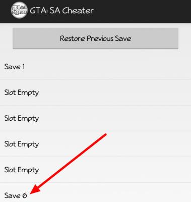 JCheater GTA San Andreas Save Game List