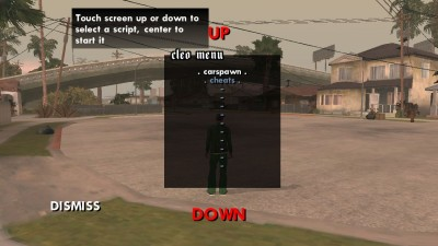 Open CLEO Scripts Menu in GTA Android