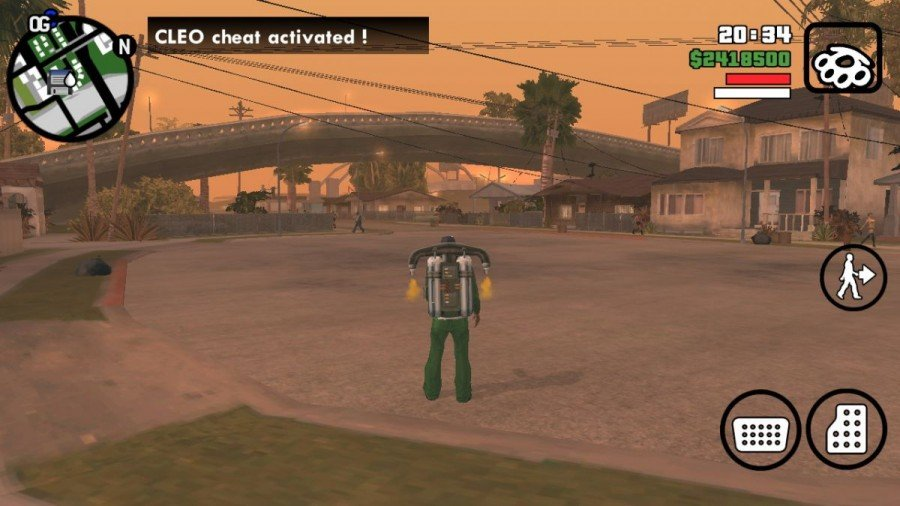 CLEO Cheat Activated in GTA SA