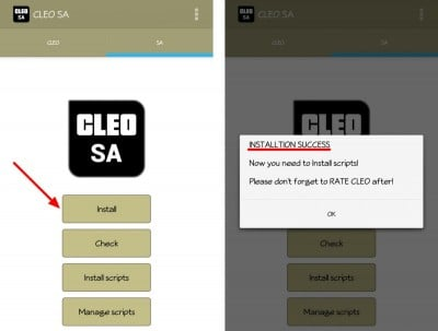 install cleo mods and scripts android