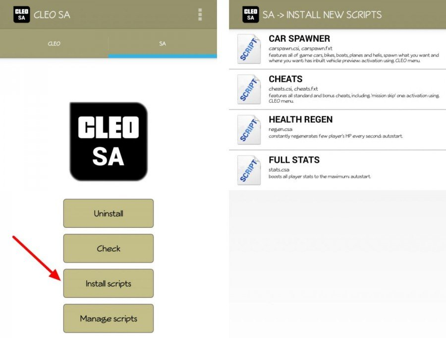 cleo install scrips for gta