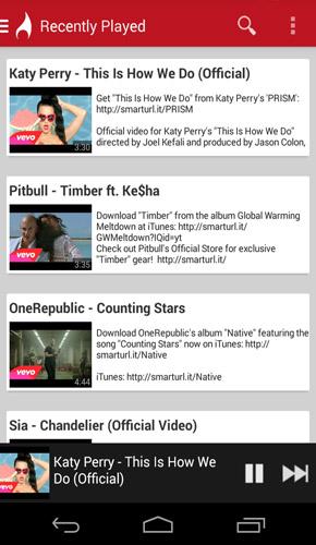 FireTube YouTube Music List