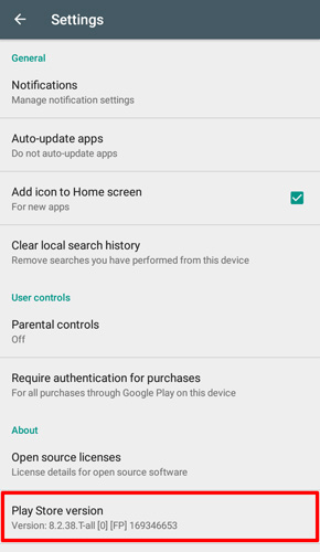 Force Update Google Play Store to fix Google Play has stopped problem