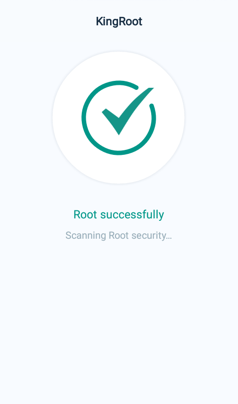 KingRoot successfully rooted