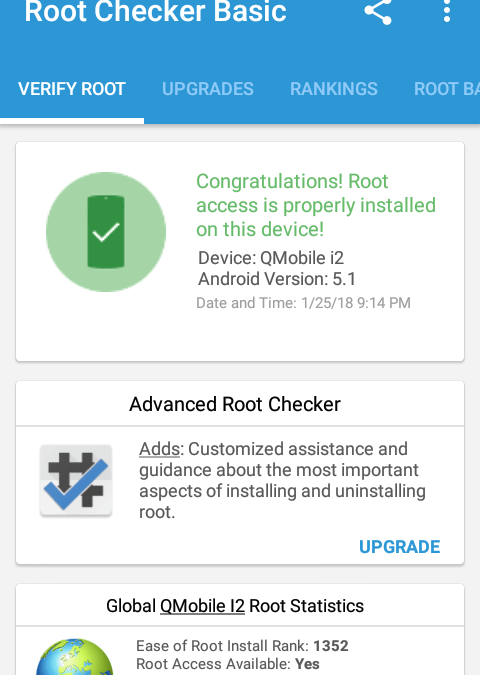 Root Checker Access Android Verification