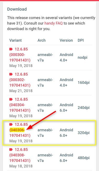 download Google Play Services old version