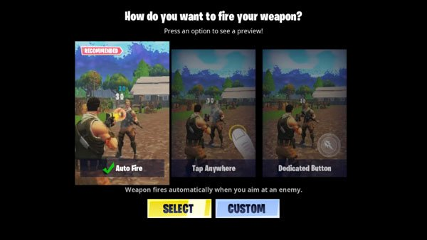 fortnite android technique to fire weapon