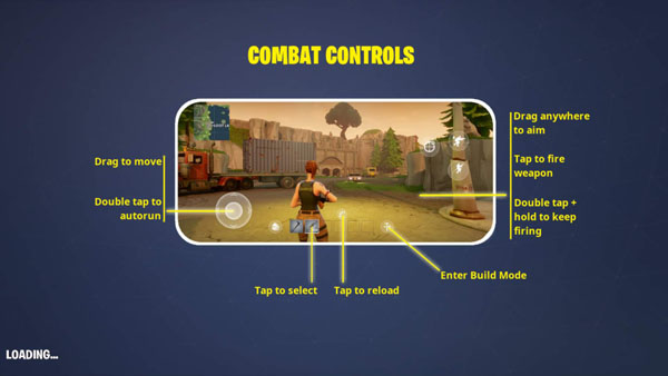 learn Fortnite Android virtual controls
