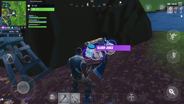 Fortnite Anroid trick staying healed and protected