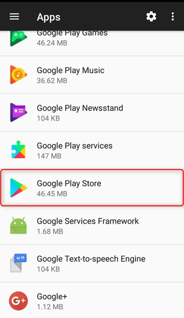 tap on google play store