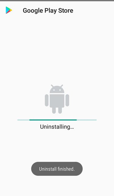 uninstallation and disabling google play store