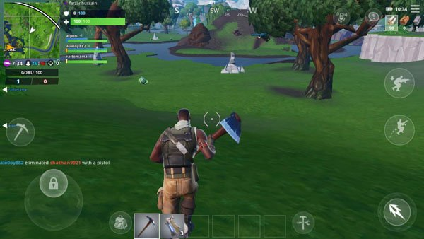 Fortnite Android auto-run mode trick