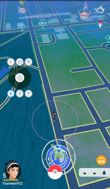 Pokemon GO spoof location joystick