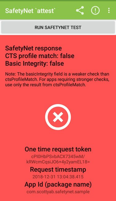 safetynet false fail results