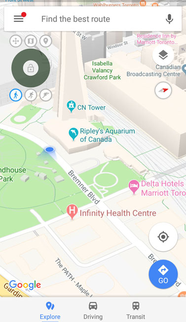 testing gps location spoofing on google maps