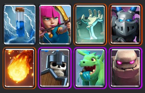 best clash royale deck arena 7a