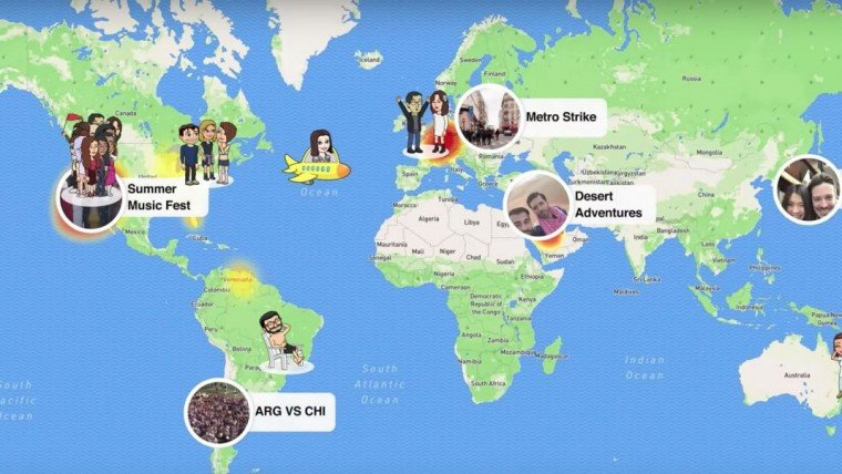 view snapchat story online with snap map