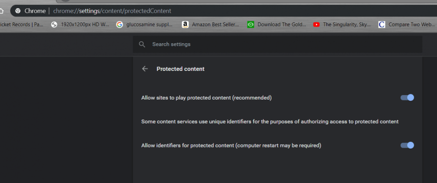 enable protected content for Spotify web player issue fix