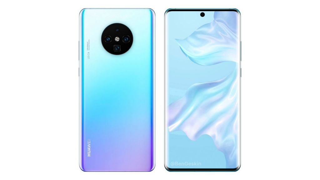 upcoming huawei mate 30 pro features unique camera design and curved edges