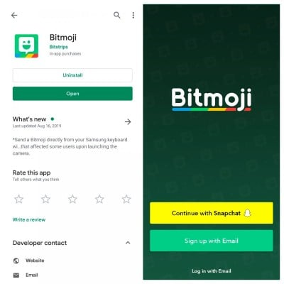 download bitmoji app from google play store