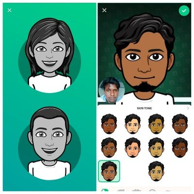 setting up your bitmoji avatar