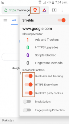 block ads and tracking on brave browser