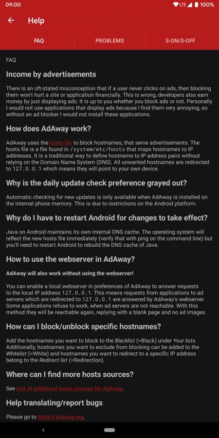 android adaway ad blocker help screen