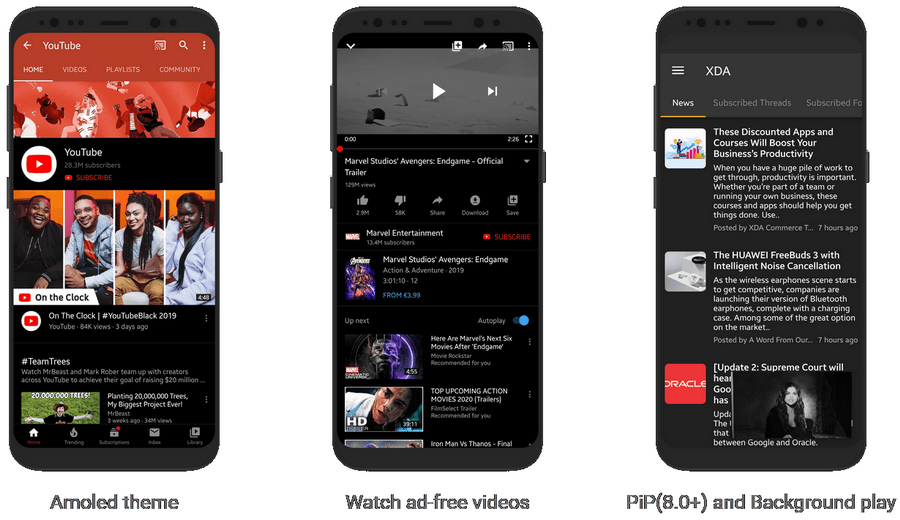 play YouTube in background with YouTube Vanced app for Android