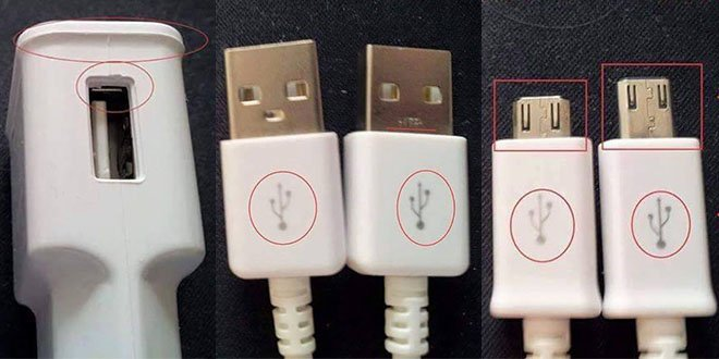 fake vs genuine charger and usb